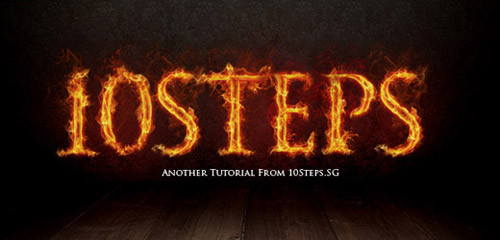 http://10steps.sg/tutorials/photoshop/text-on-fire-effect/