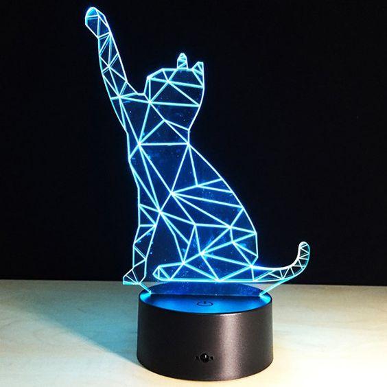 مصباح على شكل قطة