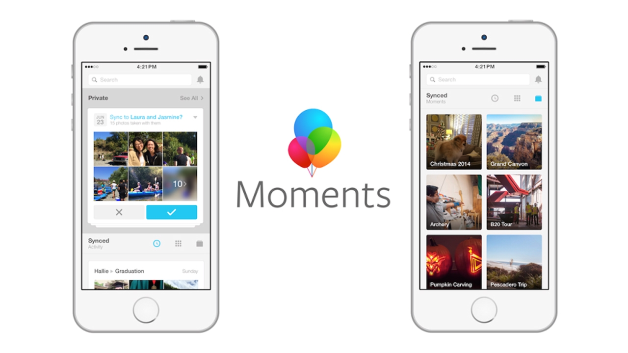 تطبيق Moments